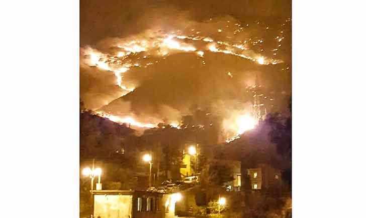 Genova brucia ancora: incendi a Nervi, Sant'Ilario e Pegli