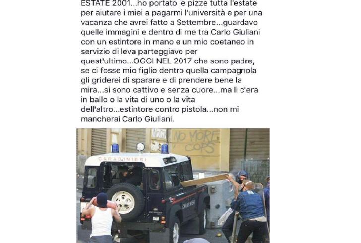 Il post del consigliere Urbisaglia su morte Carlo Giuliani fa infuriare