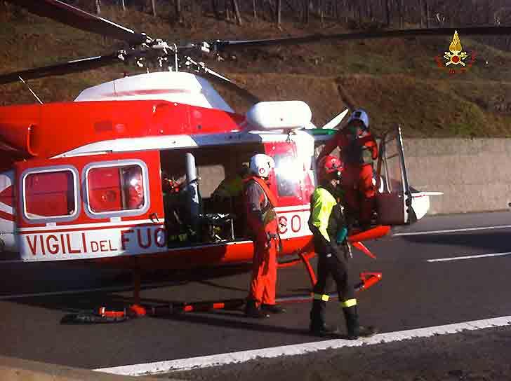 Incidente in A12 fra Recco e Rapallo, un ferito gravissimo