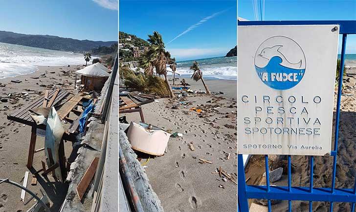 Bagni Nel Blu Spotorno : Litorale bergeggi spotorno devastato dalla mareggiata foto