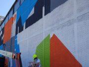 Ultimi giorni di lavoro per Zedz L'artista olandese ha scelto la cabina di E-Distribuzione per ridare vita alla valle