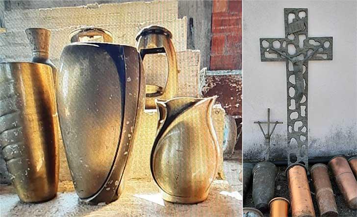 Carabinieri Alassio fermano artigiano carico rivestimenti tombali ottone rame