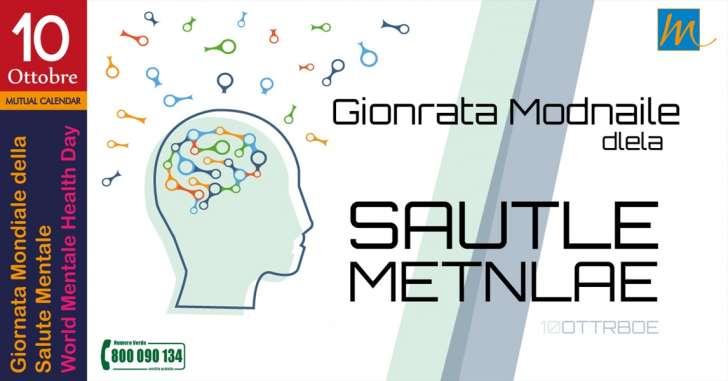 10 Ottobre Mondiale Della Salute Mentale
