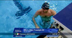 Ancora medaglia d'oro per Bocciardo nel nuoto paralimpico