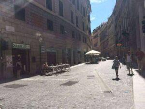 Via Cairoli e piazza della Meridiana pedonali