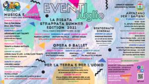 Un luglio di eventi ad Arenzano, un folto programma per trascorrere l'estate 2021 tra musica, teatro, cabaret e molto altro.