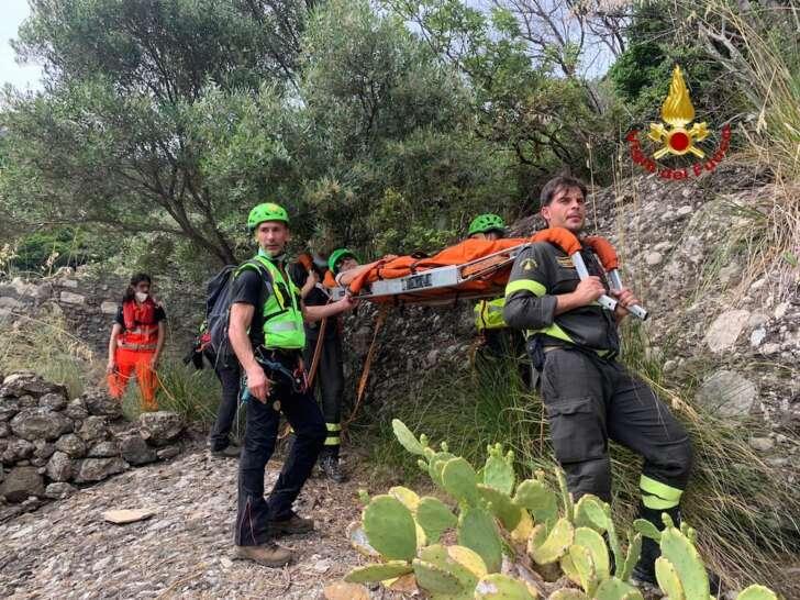 Il soccorso di una donna a Portofino