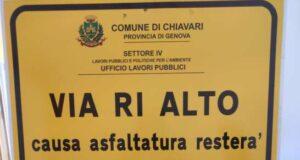 Domani inizierà l'asfaltatura nel quartiere di Ri Alto