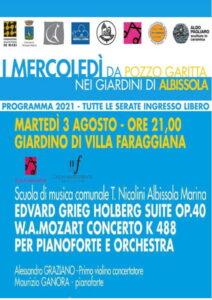 Concerto violino e pianoforte ad Albissola Marina