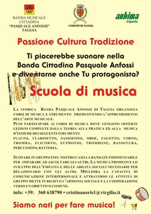 Taggia, domani piazza Cavour, Concerto della Anfossi