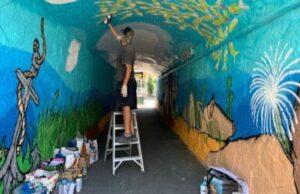 Un murales che racconta il mare di Cervo