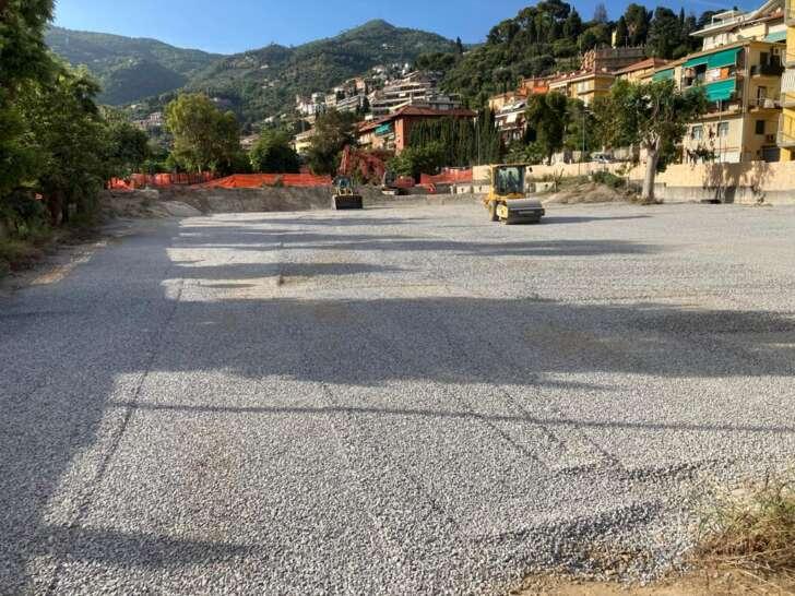 Un park temporaneo sul cantiere di Via Gastaldi ad Alassio