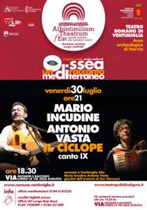 A Ventimiglia teatro con Giuseppe Cederna
