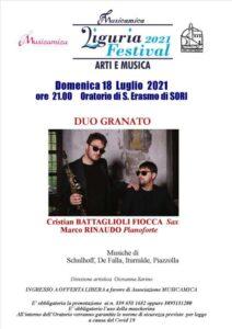 A Sori il concerto del Duo Granato