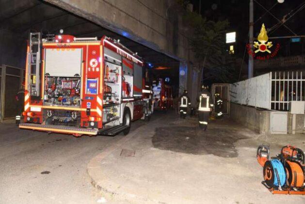 Incendio in via Ungaretti a Pegli, VVF sul posto