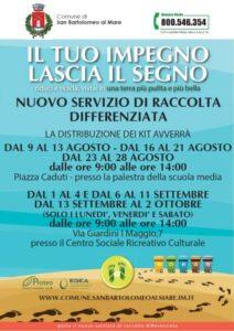 Distribuzione kit differenziata a San Bartolomeo