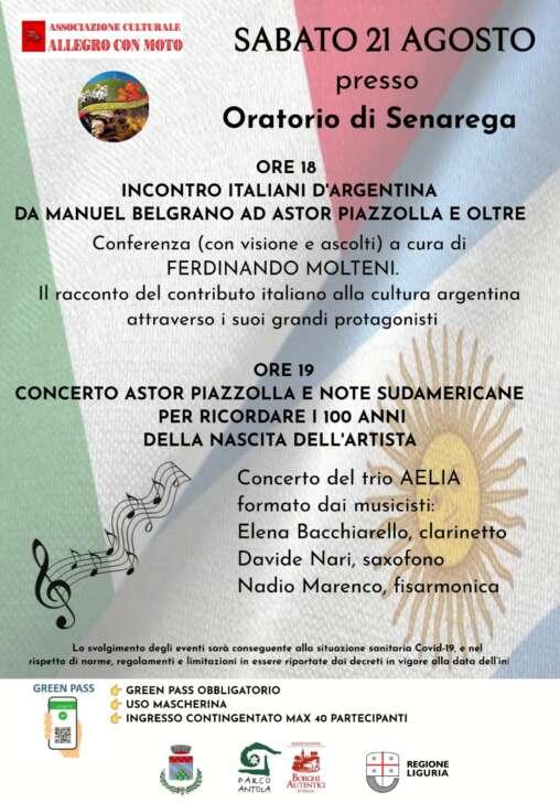 A Senarega, Incontro italiani d'Argentina
