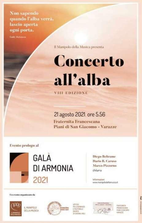 Piani di S.Giacomo, Concerto all'alba a Varazze