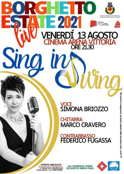 Simona Briozzo Trio in Sing in Swing a Borghetto
