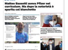 Il doppio curricula di Matteo Bassetti? Le rilevazione de Il Tempo e Libero Quotidiano