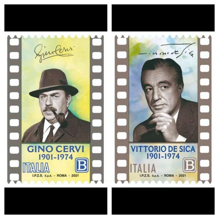 Due francobolli di Poste Italiane