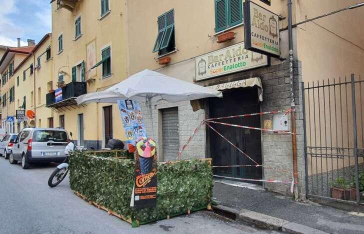 Nella notte in fiamme il bar Aldo di Genova Struppa