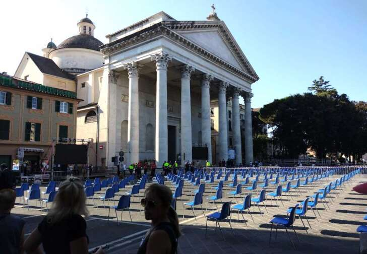 E' tutto pronto a Chiavari per i funerali del sindaco Marco Di Capua