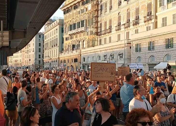 No green pass, alle 18 manifestazioni in 119 città italiane