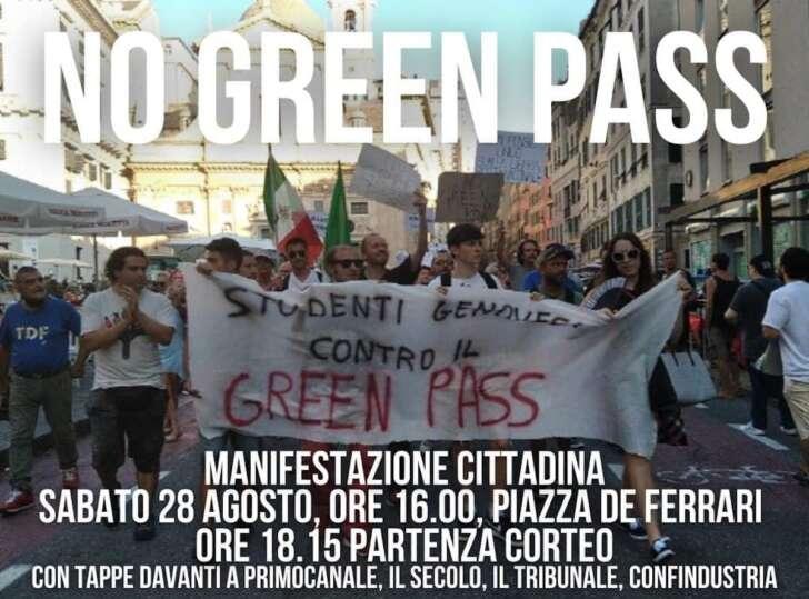 No Green pass, alle 18 manifestazioni in 120 città italiane