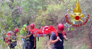 VVF e soccorso alpino intervengono per turista ferito al Muzzerone