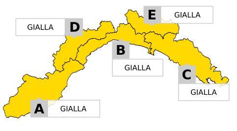 Arpal, cambia l'allerta meteo sulla Liguria