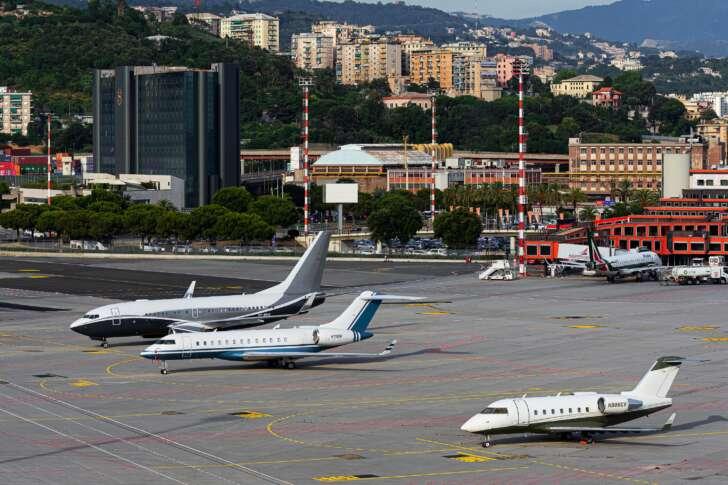 Boom di voli executive da e per l'Aeroporto di Genova