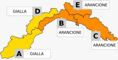 Prolungato allerta meteo sulla Liguria