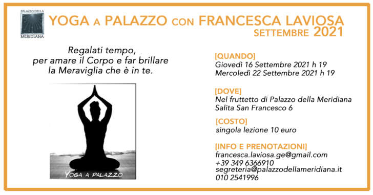Lezioni di yoga al Palazzo della Meridiana