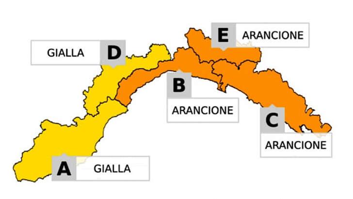 Torna il maltempo in Liguria: allerta gialla ed arancione per temporali