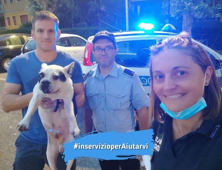 Loano, furto di un cane su un treno, animale recuperato della polizia locale