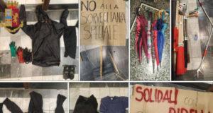 Manifestazione anarco-insurrezionalista non autorizzata in piazza Lavagna