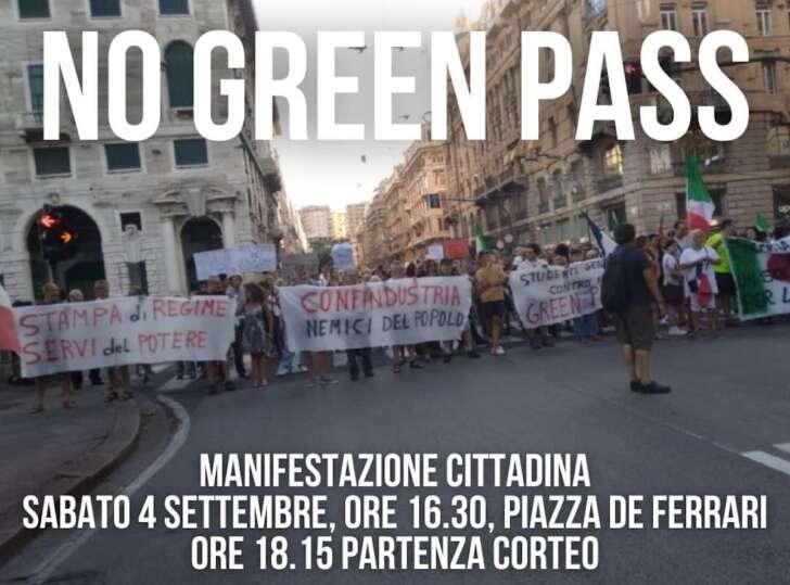 No green pass, per il settimo sabato di fila, oggi nuova manifestazione