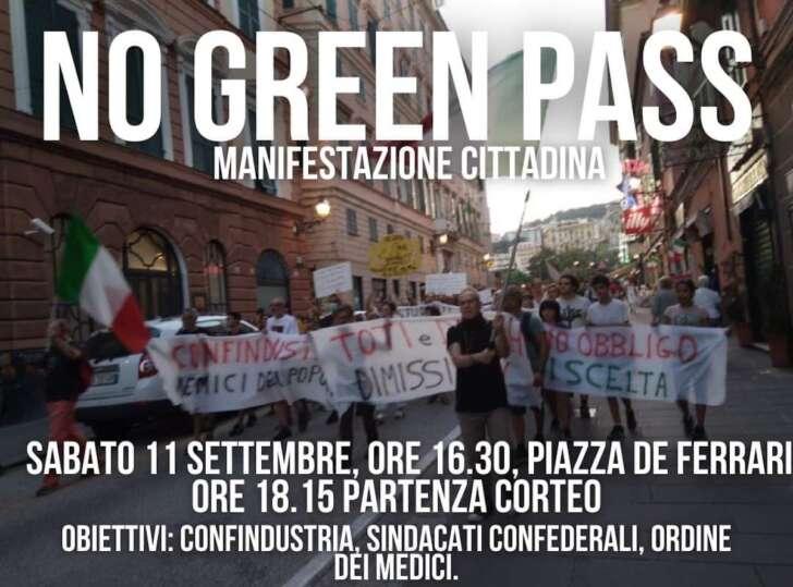 No green pass | Oggi alle 15 presidio studenti a Brignole, alle 18 corteo
