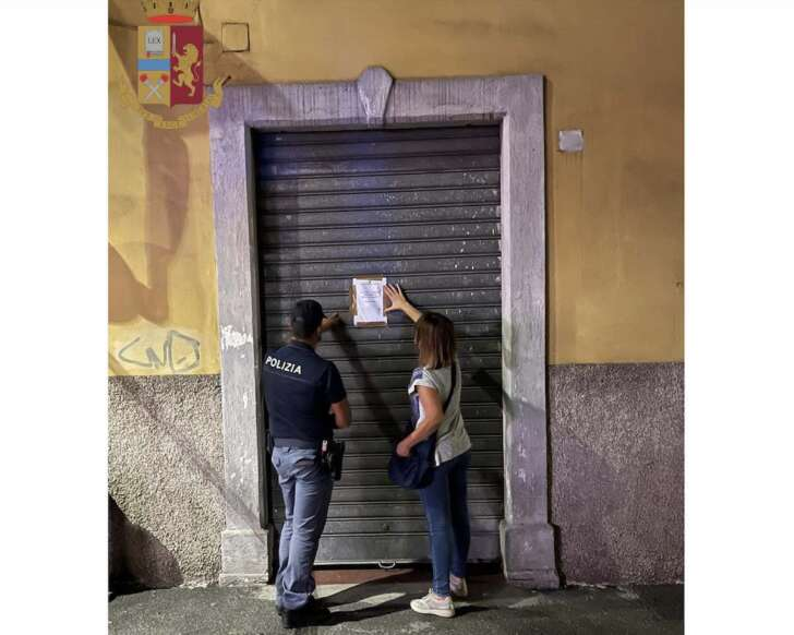 Controlli polizia La Spezia, chiuso esercizio a Fossitermi
