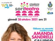 Teatro Comunale di Sori giovedì 28 alle 21, Amanda Sandrelli