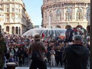 Per la 13esima volta di fila, manifestazione No green pass a Genova