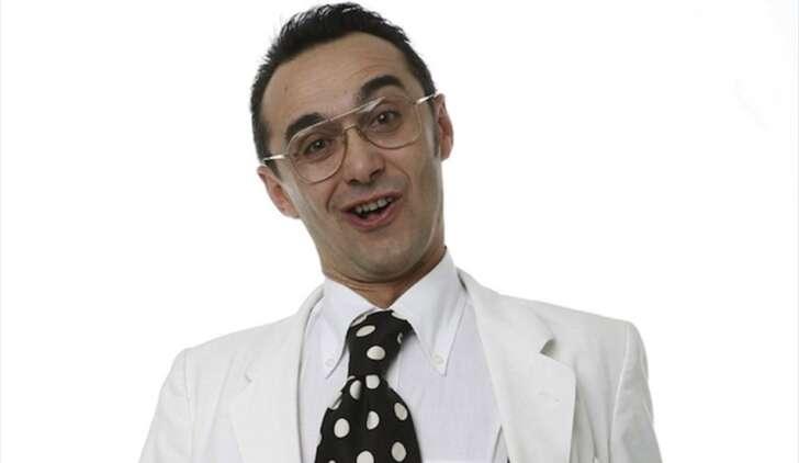 Giuseppe Giacobazzi on stage in La Spezia